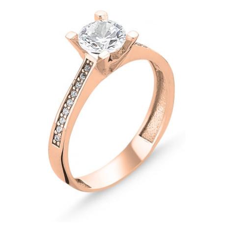 OLIVIE Stříbrný prsten ROSE 3107