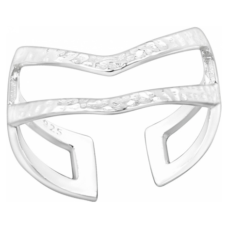 OLIVIE Stříbrný prsten NA NOHU 4015