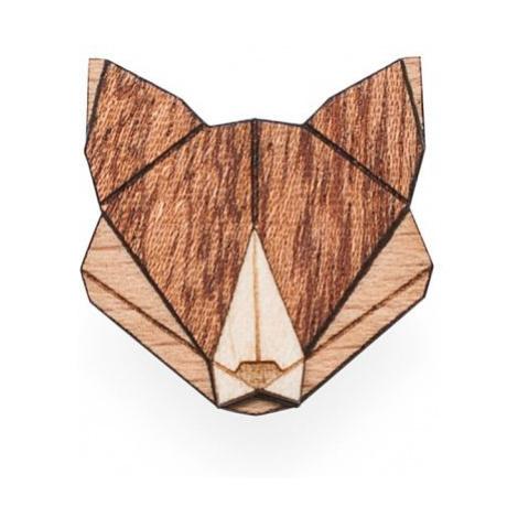 Dřevěná brož Fox Brooch BeWooden