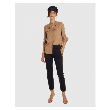 Kalhoty La Martina Woman Trousers Stretch Satin - Modrá