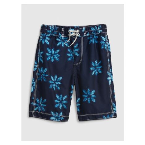 GAP Dětské plavky recycled print board shorts