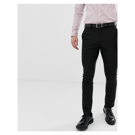 New Look skinny suit trousers in black