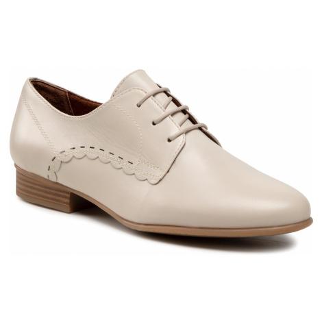 Oxfordy TAMARIS - 1-23218-26 Cream Leather 438