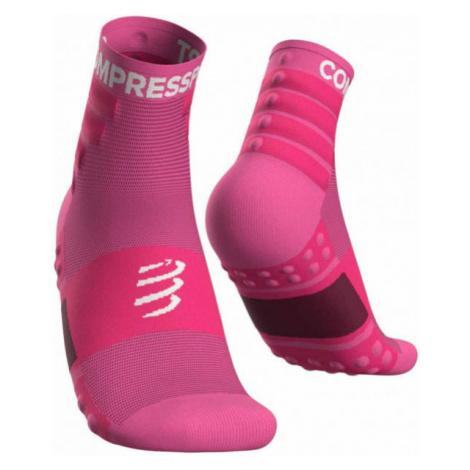 Compressport TRAINING SOCKS 2-PACK růžová - Sportovní ponožky