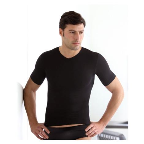 Pánské triko bezešvé T-shirt V mezza manica Intimidea