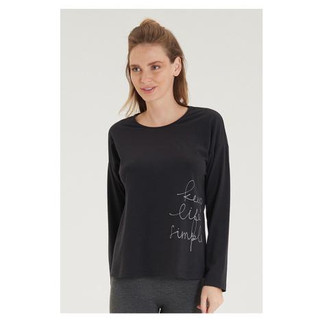 Dámské černé tričko s dlouhým rukávem Blackspade