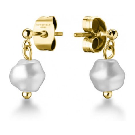 Rosefield náušnice TOC Stud with tiny pearl Gold