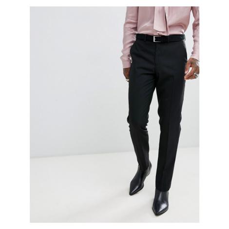 ASOS DESIGN slim tuxedo suit trousers in black