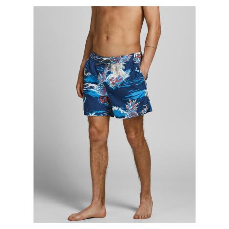 Jack & Jones modré pánské plavky Bali