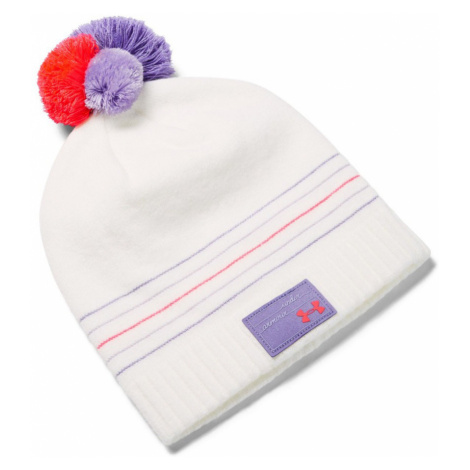 Under Armour Girls Triple Scoop Beanie Dívčí kulich 1345400-112 Onyx White