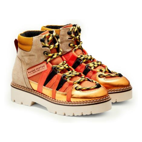 Scotch & Soda kotníkové boty Olivine Mid Lace Boot Orange Multi