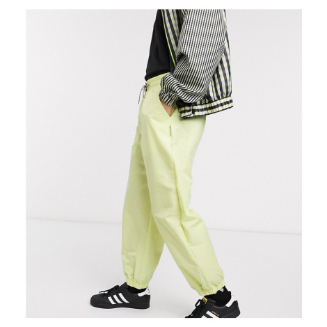 COLLUSION nylon trousers in acid lime-Green