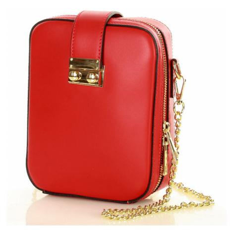 Přírodní kožená taška model 141013 Mazzini UNI