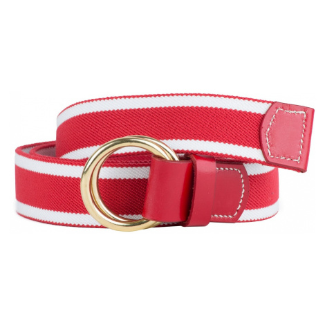 Pletený pásek Hardy & Parsons - červenobílý