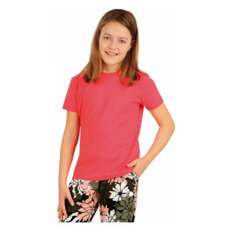 Dětské tričko s krátkým rukávem Litex 5A387 | lososová