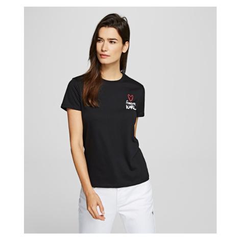 Tričko Karl Lagerfeld Forever Karl T-Shirt - Černá