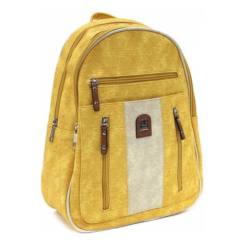Žlutobéžový zipový dámský batoh Trina New Berry