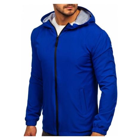 Modrá pánská sportovní bunda větrovka Bolf HH035 J.STYLE