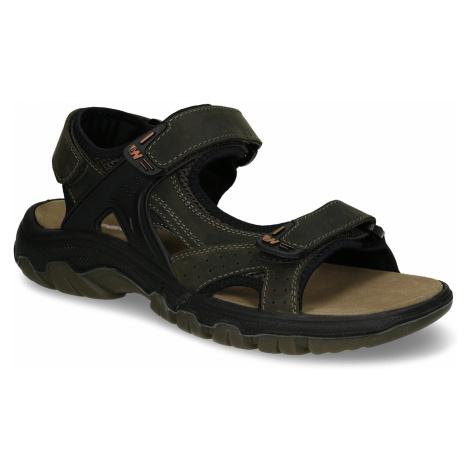 Hnědé pánské kožené sandály ve sportovním střihu Weinbrenner
