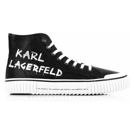 Kotníková Obuv Karl Lagerfeld Kampus Ii Brush Logo Hi Lthr - Černá