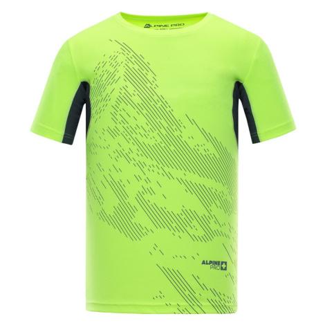 Pánské triko Alpine Pro HETT 2 - reflexní žlutá