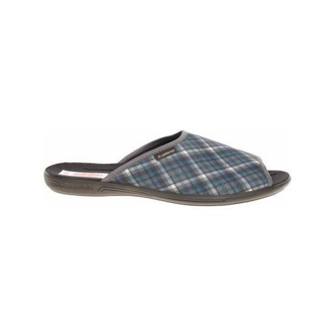 Rejnok Dovoz Pánské domácí pantofle Rogallo 24676 šedá-modrá