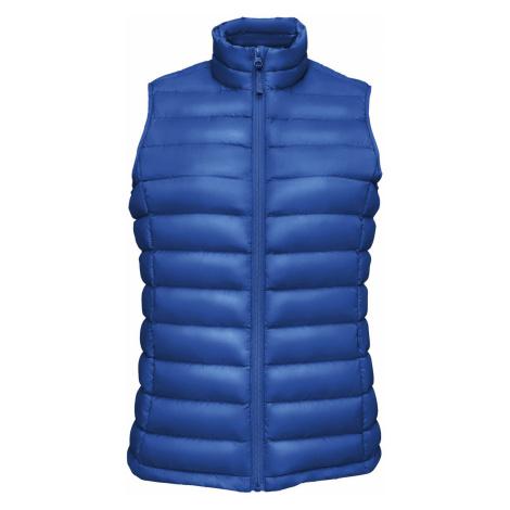 SOĽS Dámská prošívaná vesta WILSON BW WOMEN 02890241 Royal blue SOL'S