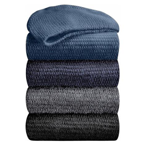 Blancheporte Podkolenky s masážním efektem, 98 % bavlna, 2 páry nám.modrá