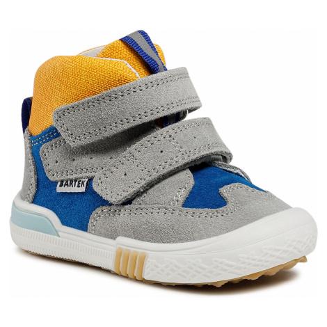 Kotníková obuv BARTEK - 21704-002 Szary/Niebieski