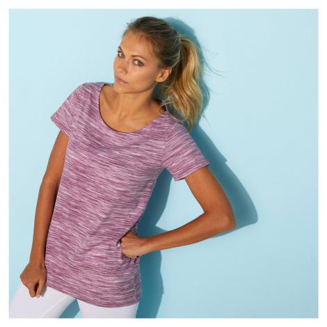 Blancheporte Melírované tričko s kulatým výstřihem purpurový melír