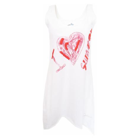 Desigual bílé šaty I love summer