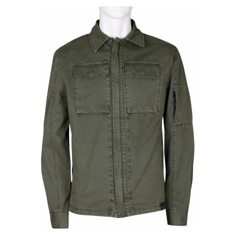 Tmavě zelená pánská bunda v košilovém stylu Baťa