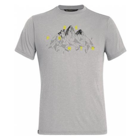 Salewa triko Illustration DRY, šedá
