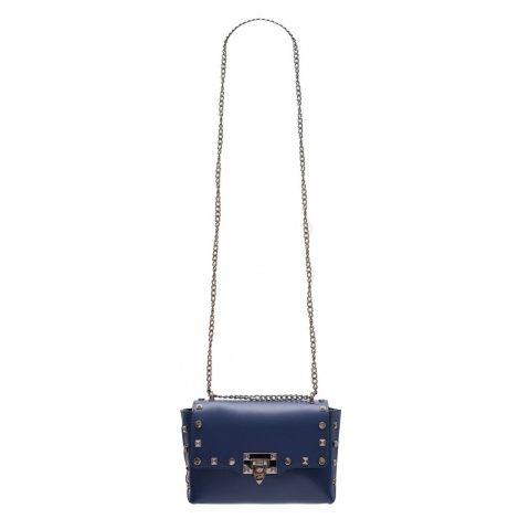 Dámská kožená crossbody kabelky s cvoky - tmavě modrá Glamorous