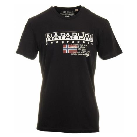 Napapijri pánské tričko černé s krátkým rukávem