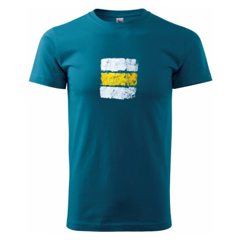 Turistická značka - žlutá - Heavy new - triko pánské
