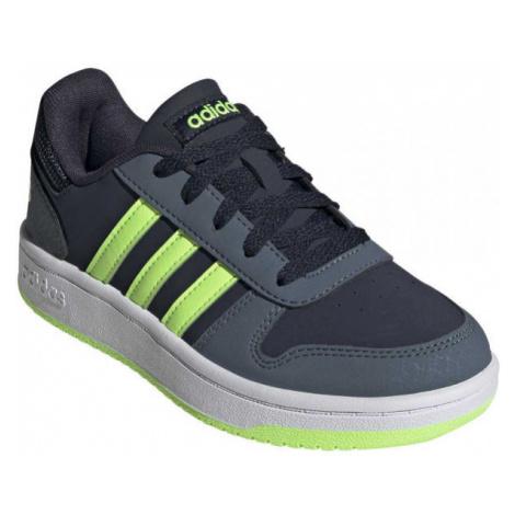 adidas HOOPS 2.0 K zelená - Dětské volnočasové tenisky