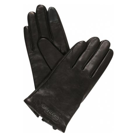 Calvin Klein Prstové rukavice černá