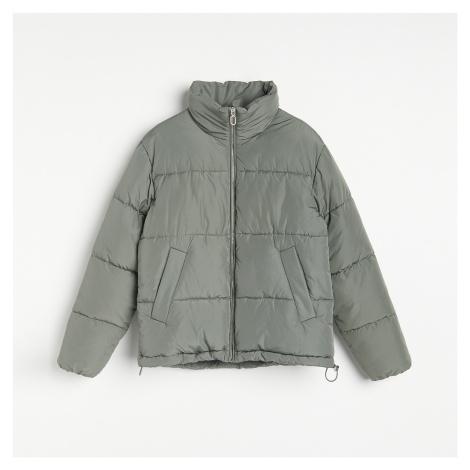 Reserved - Prošívaná bunda s límcem - Zelená