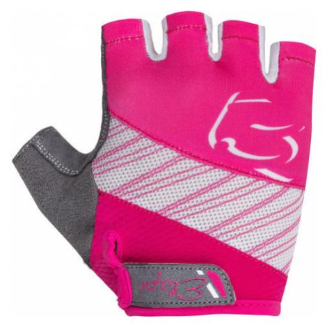 Dětské cyklistické rukavice Etape Simple růžovo-bílé,