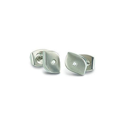 Boccia Titanium Titanové náušnice s diamantem 05008-02