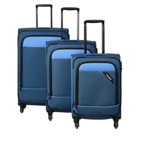 Travelite Derby 4w S,M,L Blue – sada 3 kufrů