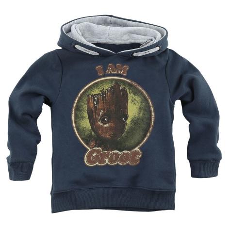 Strážci galaxie I Am Groot detská mikina s kapucí námořnická modrá