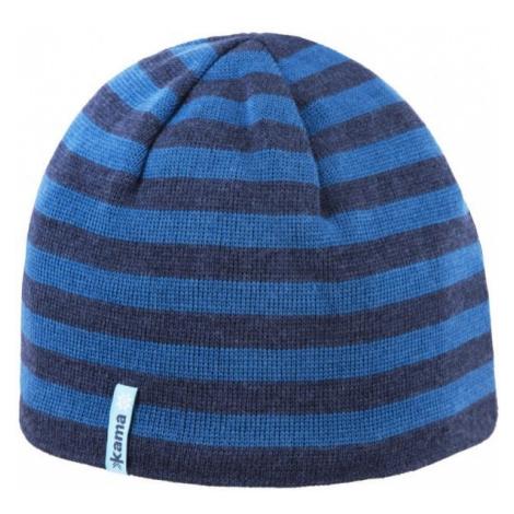 Kama ČEPICE MERINO tmavě modrá - Pletená čepice