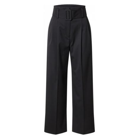 HUGO Kalhoty se sklady v pase 'Hugesa' černá