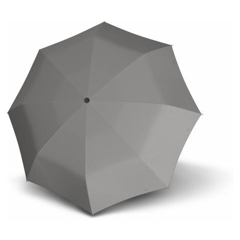 Šedý skládací mechanický plochý dámský deštník Bruan Doppler