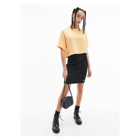 Calvin Klein Calvin Klein Jeans dámská černá sukně SLUB RIB MINI SKIRT