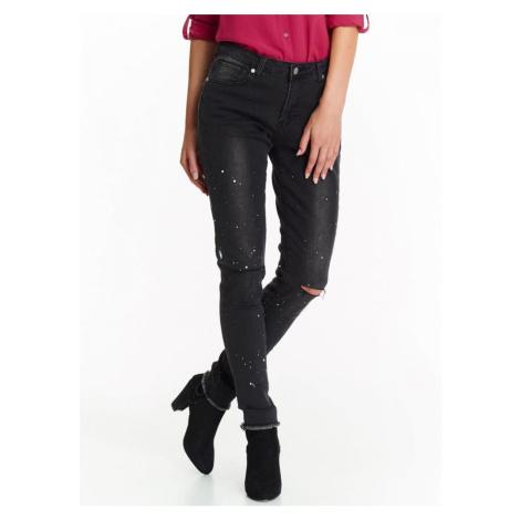Top Secret Kalhoty dámské s průstřihem na koleni a roztřepným lemem