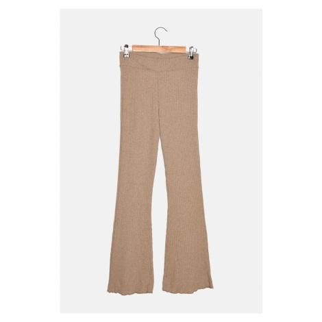 Trendyol Camel Knitwear Look Knitted Trousers