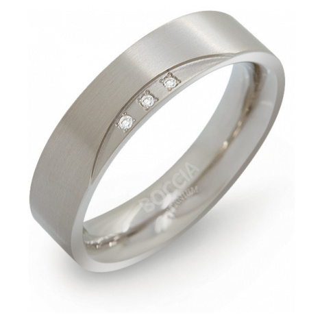 Boccia Titanium Titanový snubní prsten s diamanty
